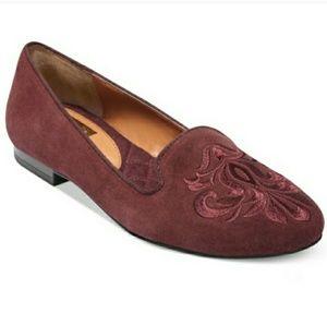 Dolce Vita burgundy suede Gelle loafer flats